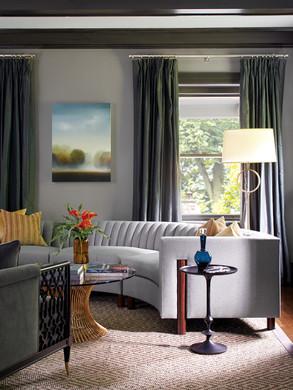 Evolve gray living room