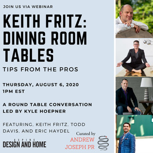 Dining table webinar for ASPIRE Design + Home