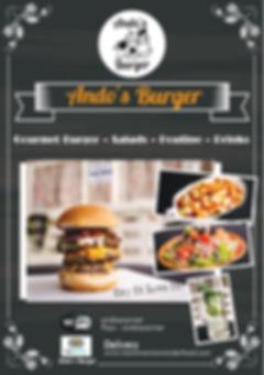 ando burger menu