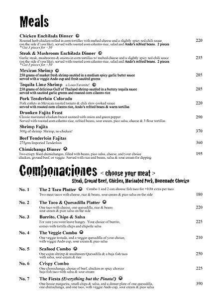 ando food menu