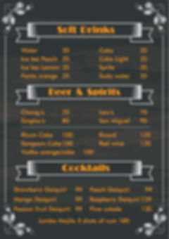 and drnks menu
