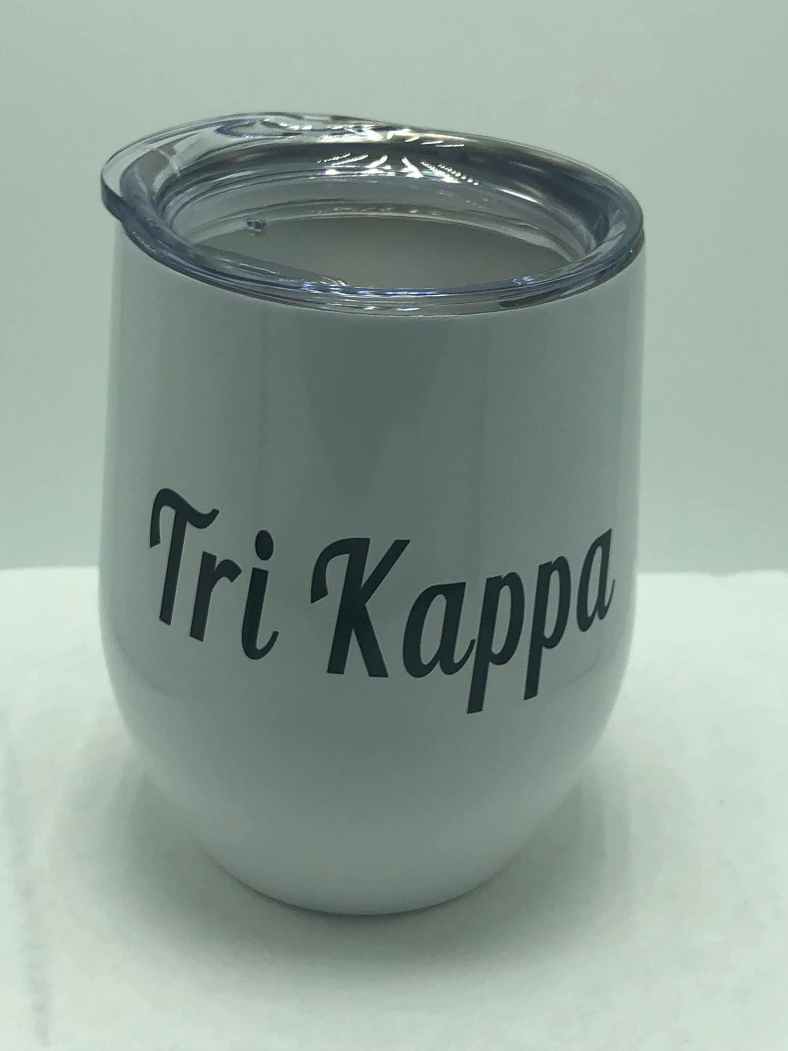 Tri Kappa Sublimated Metal Wine Goblet