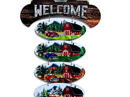 Sublimated Welcome Sign with One (1) Season
