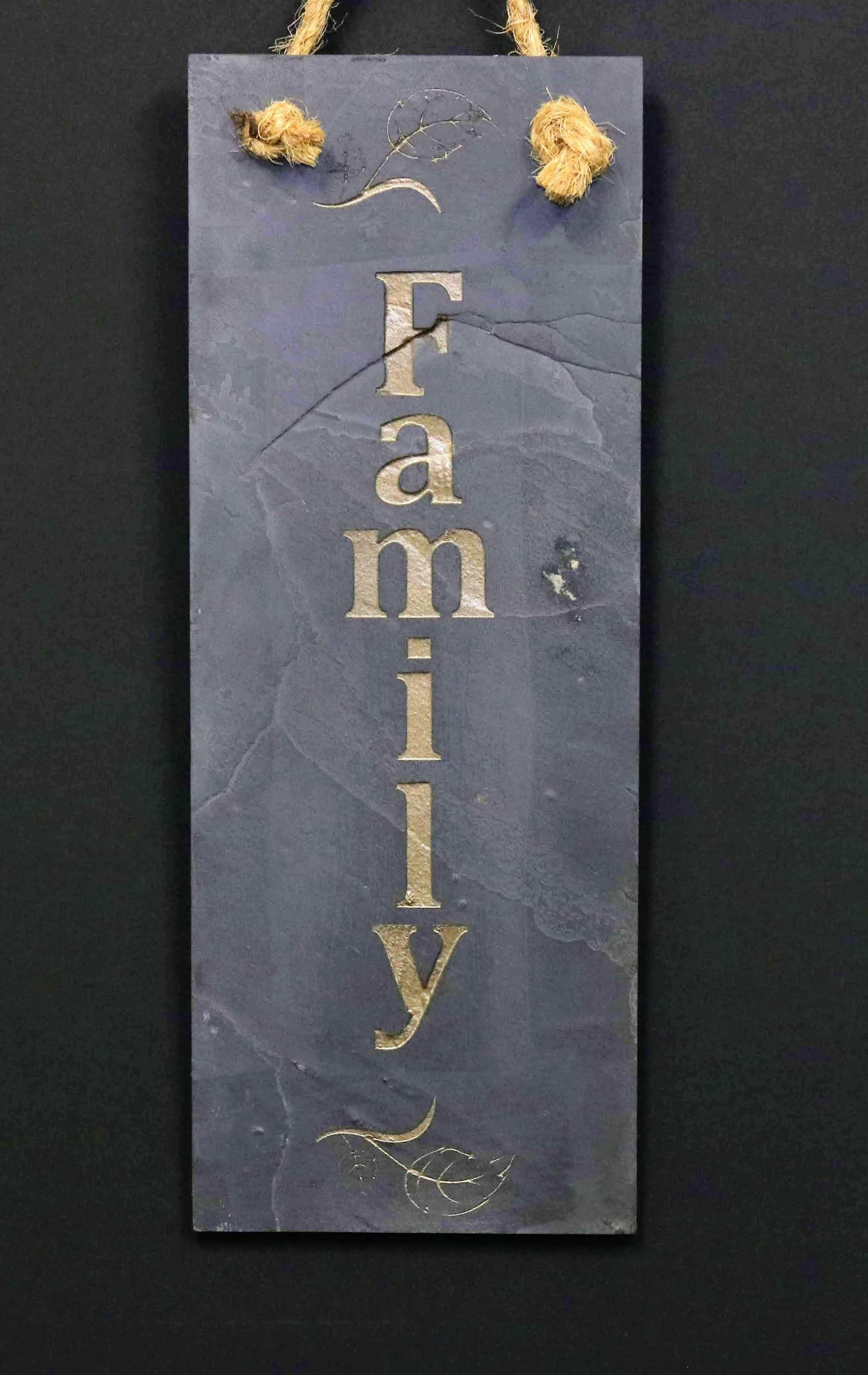 Custom Sublimated Slate Family Sign
