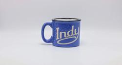Sand Carved Indy Coffee Mug