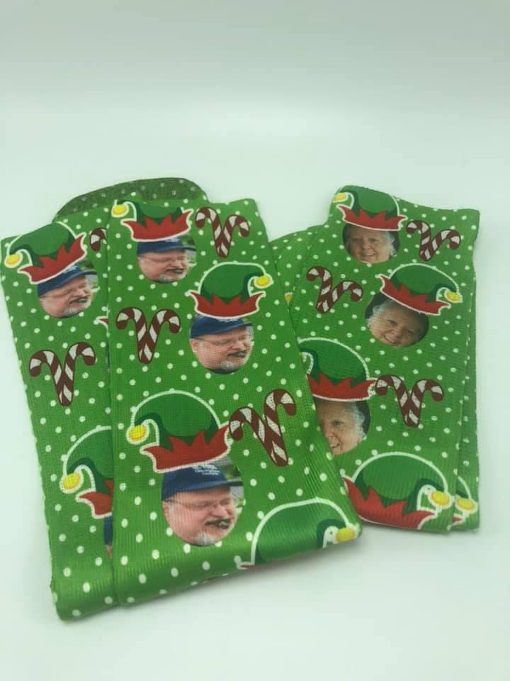 Green Elf Holiday Socks