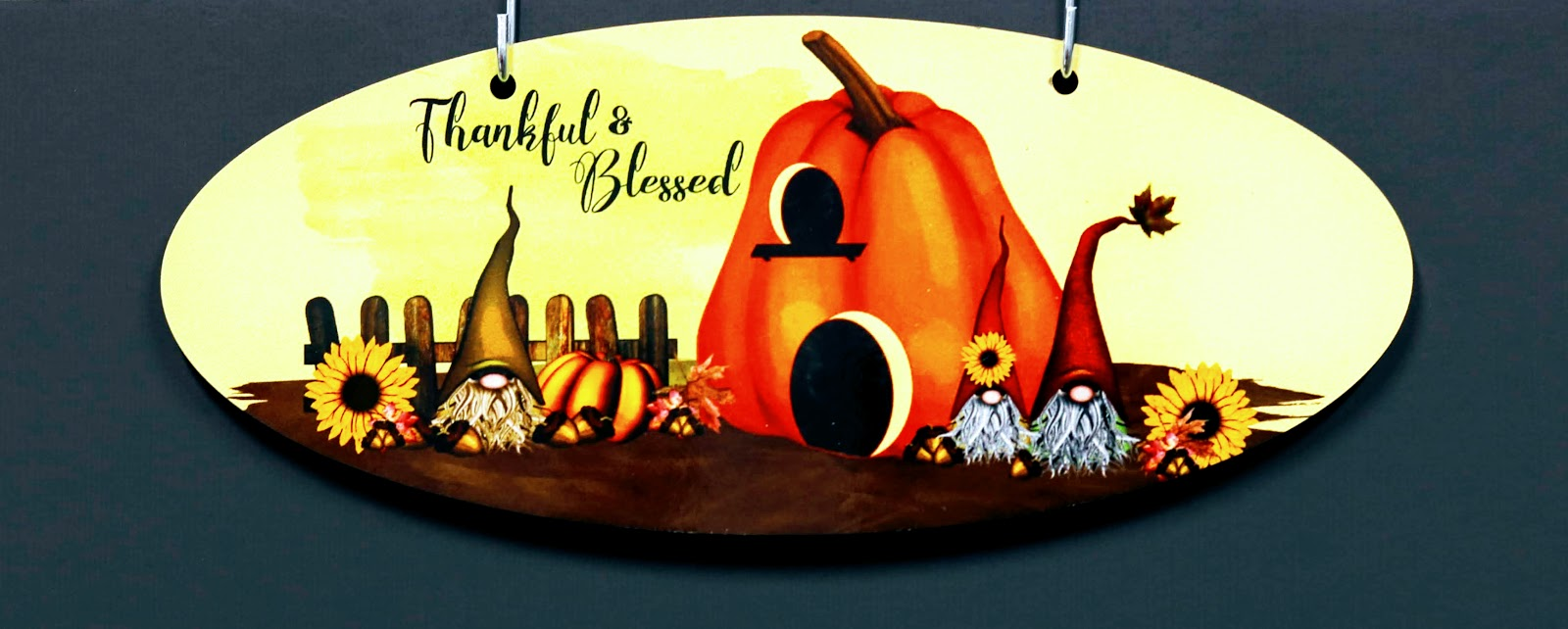Thankful and Blessed Season Sign