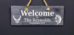 Custom Sand Carved Welcome Sign
