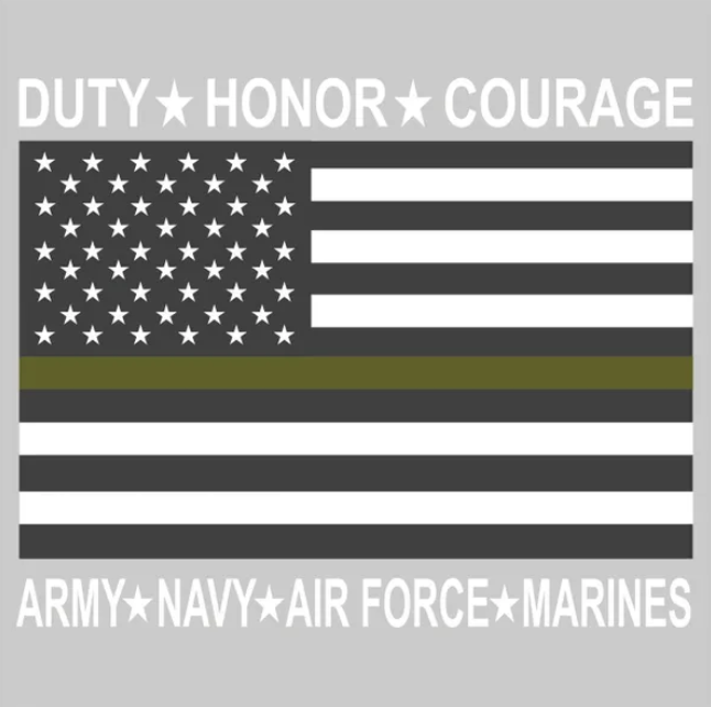 Patriotic Decals Duty flag