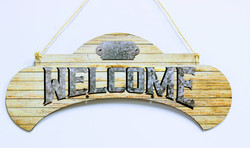 Pale Tan Sublimated Acrylic Welcome Sign