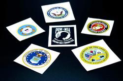 Patriotic Military Decals