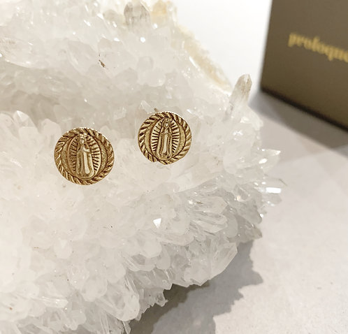 EARRINGS GOLD 'Ave Maria'