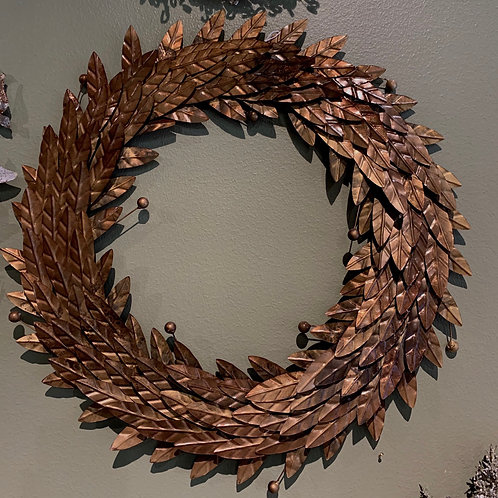 METAL WREATH COPPER COLOR