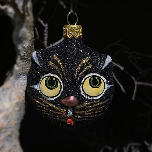 BLACK CAT xmas decor