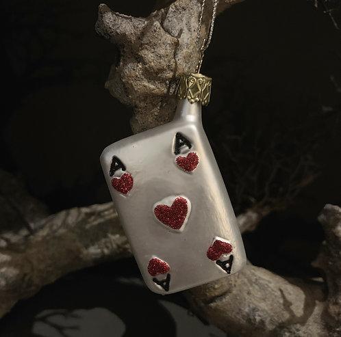 ACE OF HEARTS xmas tree decor