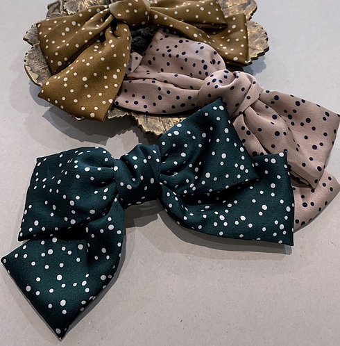 BOW WITH CLIP XL 'Dottie'