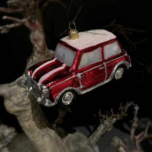 RETRO CAR COOPER xmas decor