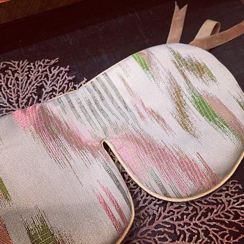 LAVENDEL SLEEP MASK 'Ikat' ribbons
