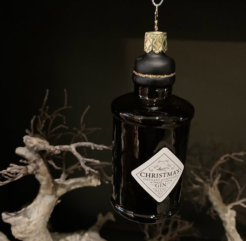 GIN BOTTLE BROWN xmas tree ornament
