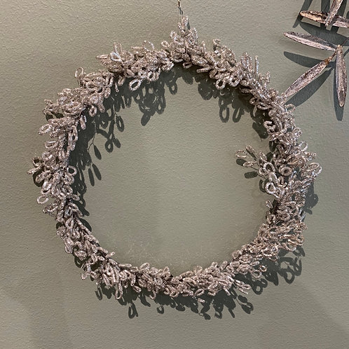 SILVER WREATH LOOPED