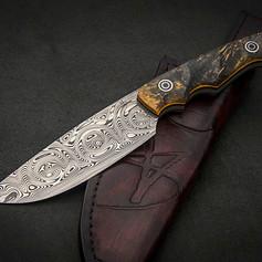 VSH07DA Damasteel Hunting knife
