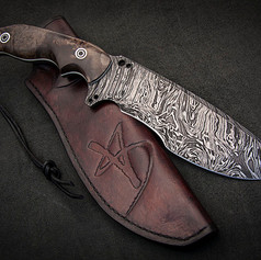 Orca Tactical Knife in Damascus