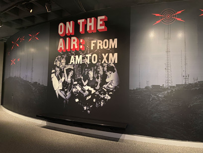 Finished center wall graphic for ON THE AIR radio exhibit.