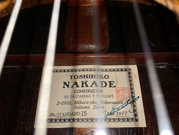 Guitar classic TOSHIHIKO NAKADE Standard 15 1977 .