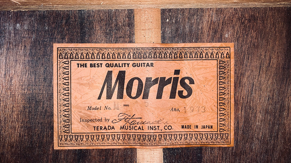 Guitar classic Morris M15 vintage 1973 .