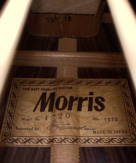 Guitar acoustic Morris_F20 MIJ 1972 .