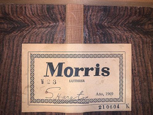 Guitar Morris W23 Vintage 1969 made in Japan.