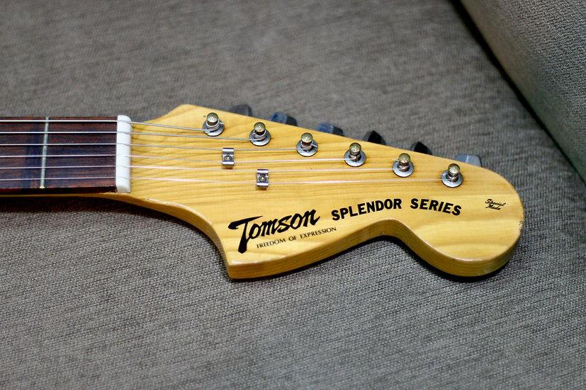 E-Guitar Tomson Splendor vintage Mustang MIJ by Kiso Suzuki 1970s .