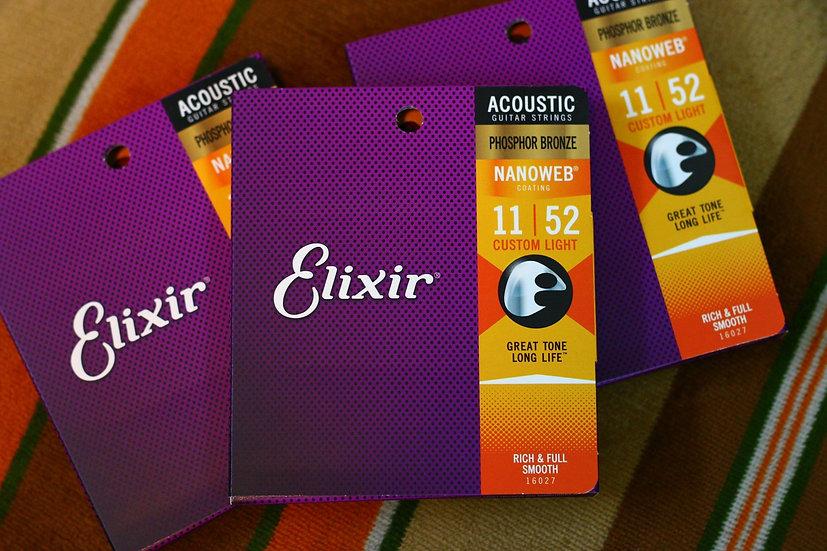 Elixir Phosphor Bronze NANOWE acoustic