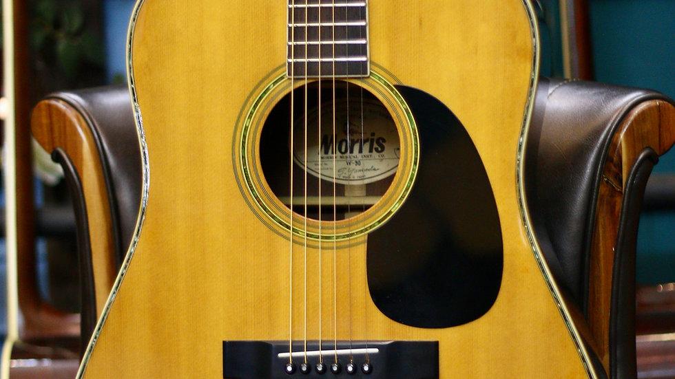 Guitar acoustic Morris W30  từ năm 1980s .