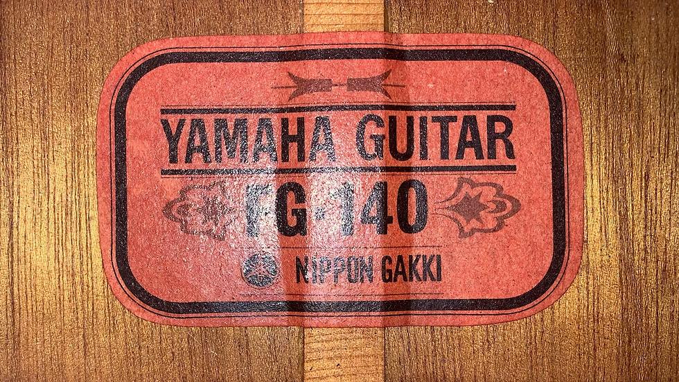 Guitar Yamaha FG140 red lable  vintage 1970.