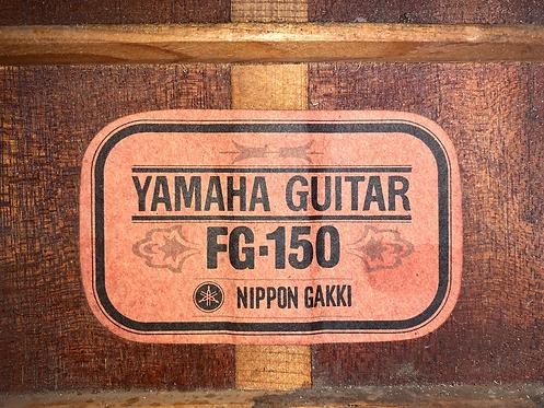 Guitar Yamaha FG150 OM tem đỏ cổ từ năm 60s