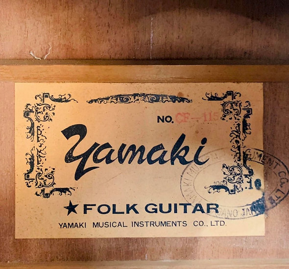 Guitar acoustic Yamaki CF115 MIJ 1970s .