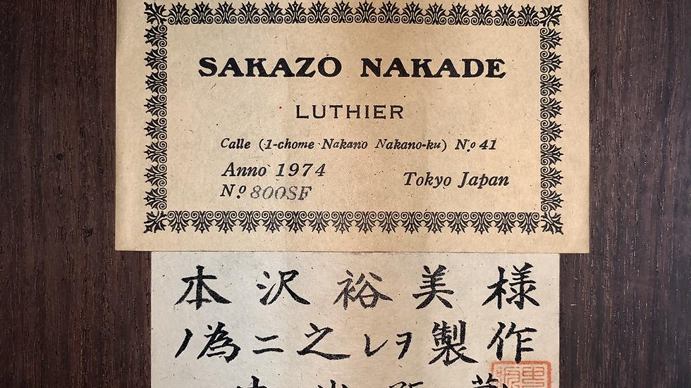 Guitar classic Sakazo Nakade No.800SF 1974 .