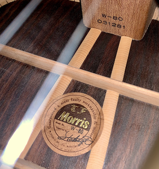 Guitar acoustic Morris W80 like new từ năm 1970s .