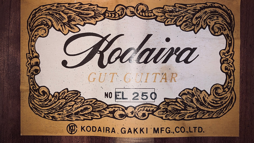 Guitar classis Kodaira EL250 top solid scale 630.