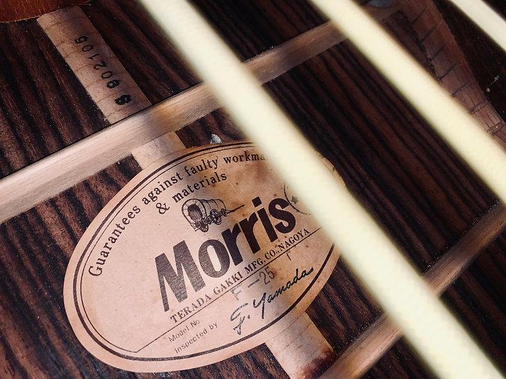 Guitar acoustic Morris F25 vintage 1970s .