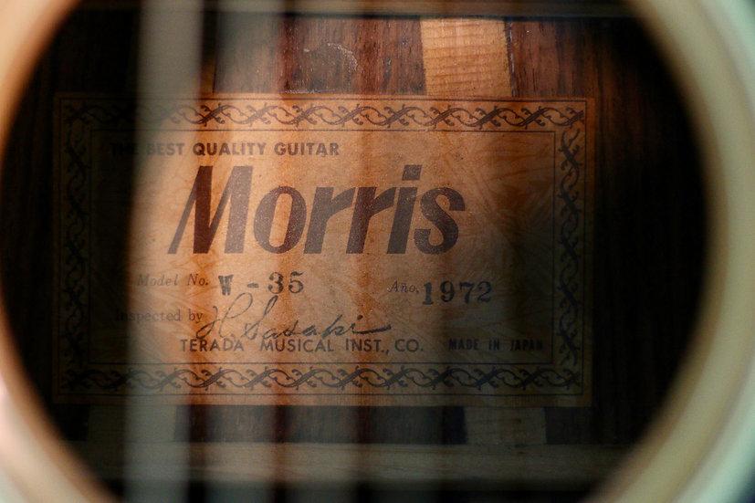 Guitar Morris W35 tem vuông năm 1972 .