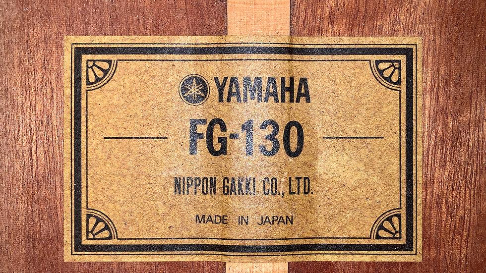 Guitar acoustic Yamaha FG130 1970s .