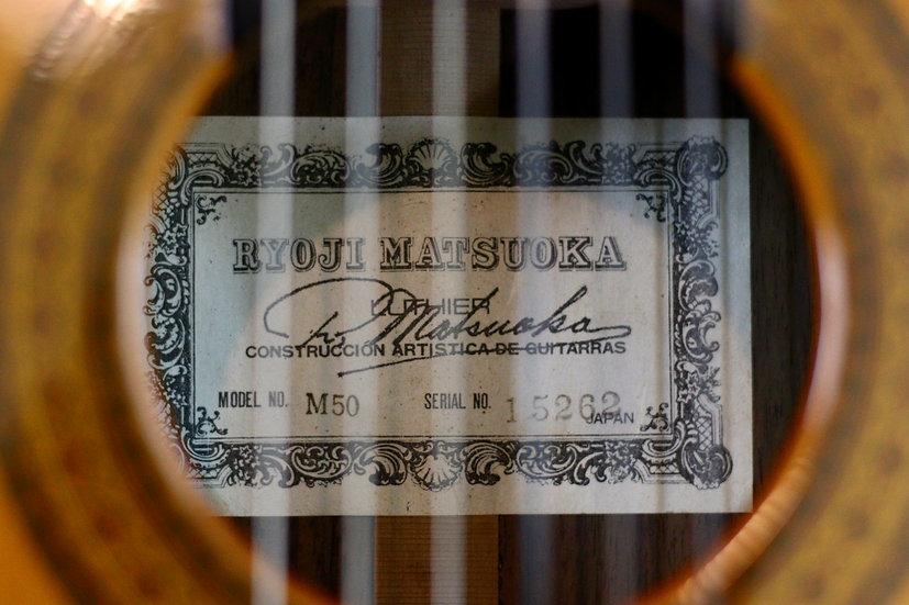 Guitar classic Ryojy Matsuoka M50 từ năm 1982 .