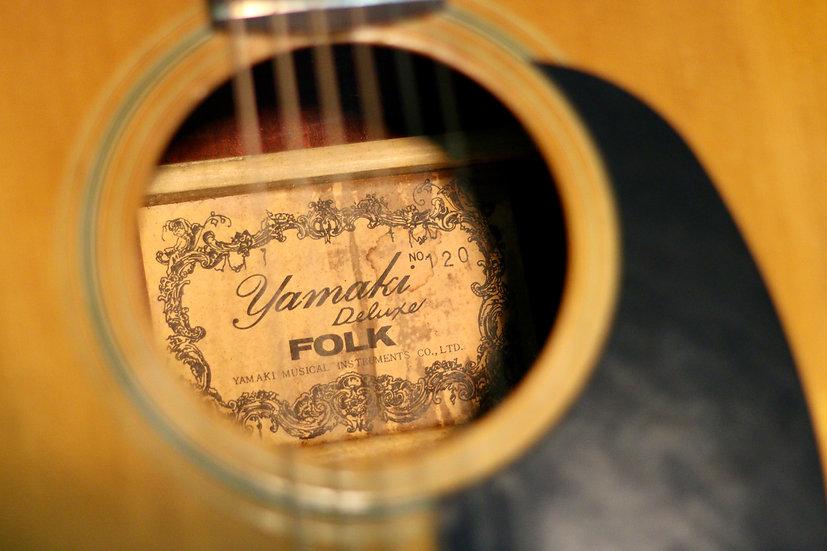 Guitar acoustic Yamaki No.120 vintage 1970s .