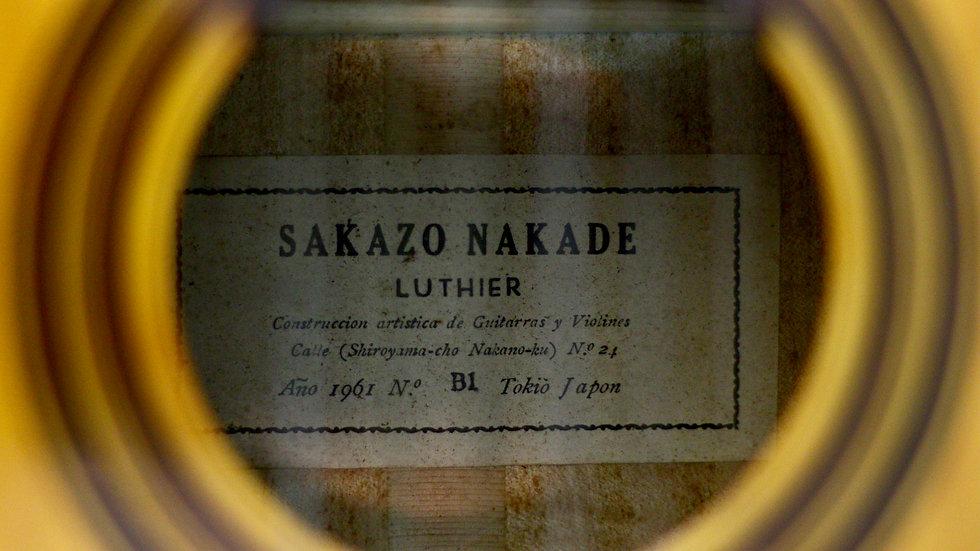 Guitar classic Sakazo Nakade B1 full solid 1961 .