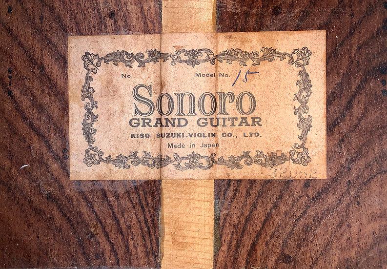 Guitar classic Sonoro No.15 by Kiso Suzuki MIJ 1960s.