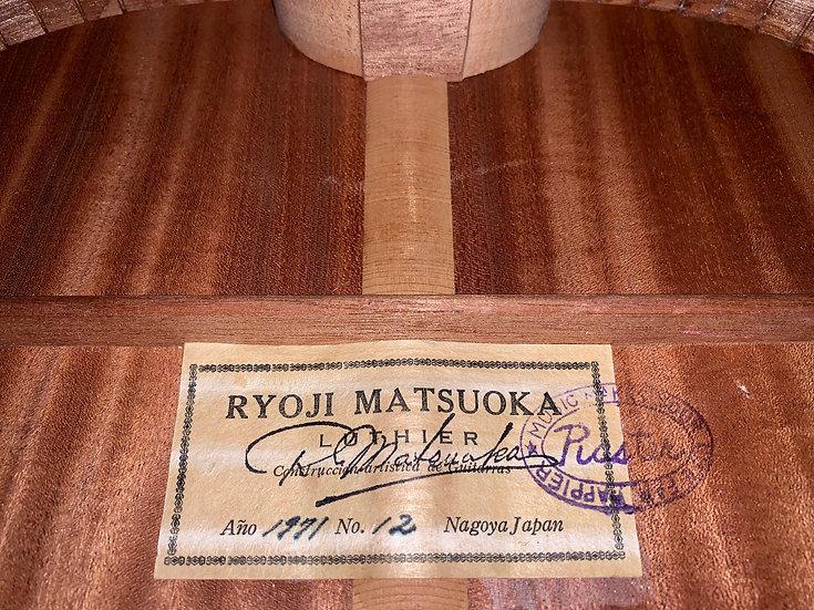 Guitar classic Ryoji Matsuoka No12 tem cổ 1971 .