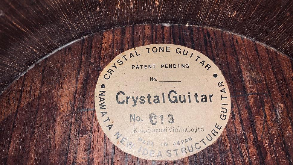 Guitar classic Kiso Suzuki Crystal tone solid top vintage 1960s.