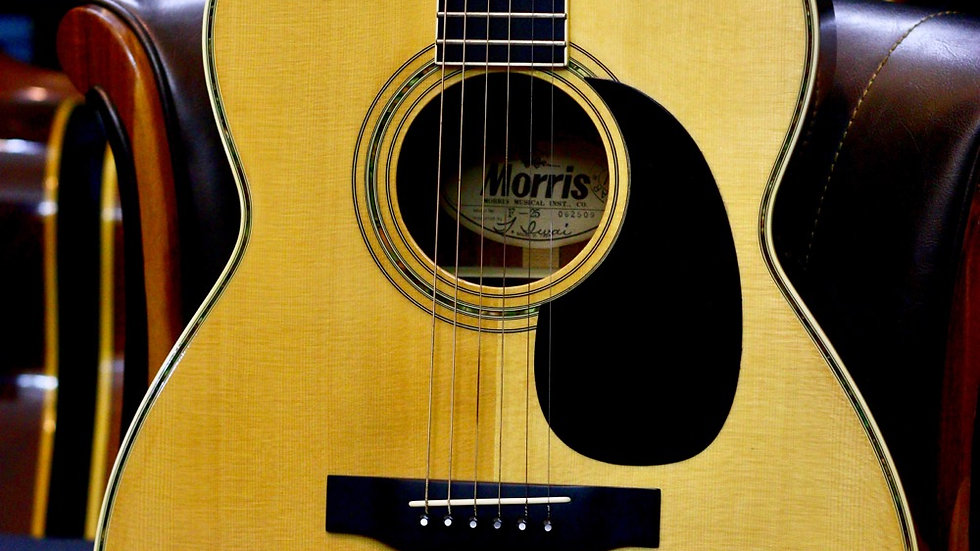 Morris F25 acoustic guitar like new 1980s